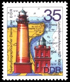 35 Pf Briefmarke: Leuchttürme der DDR, Leuchttürme Arkona
