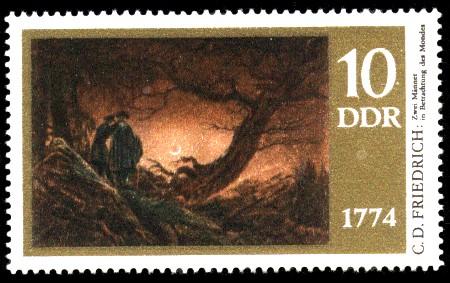 10 Pf Briefmarke: 200. Geburtstag Caspar David Friedrich