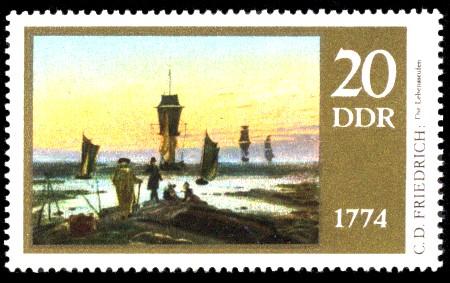 20 Pf Briefmarke: 200. Geburtstag Caspar David Friedrich, Die Lebensstufen