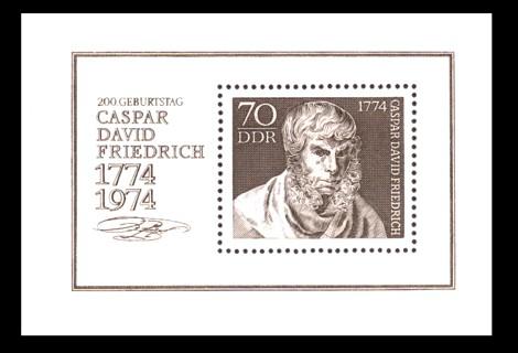 Briefmarke: Block - 200. Geburtstag Caspar David Friedrich