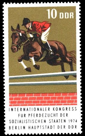 10 Pf Briefmarke: Kongreß für Pferdezucht