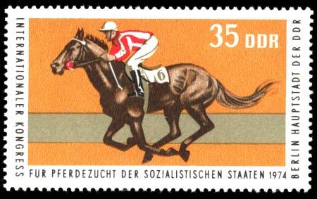 35 Pf Briefmarke: Kongreß für Pferdezucht