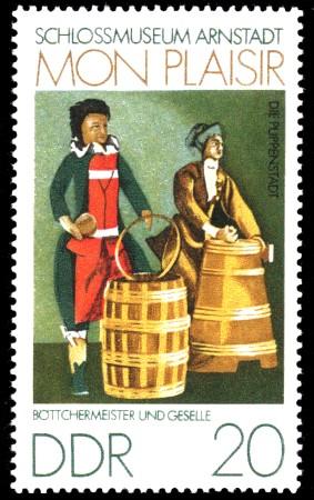 20 Pf Briefmarke: Mon plaisir, Schloßmuseum Arnstadt, Böttcher
