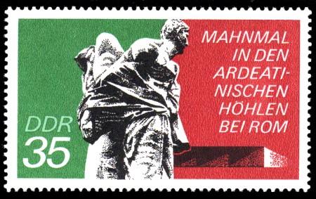 35 Pf Briefmarke: Mahn- und Gedenkstätten, Ardeatinischen Höhlen