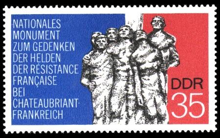 35 Pf Briefmarke: Mahn- und Gedenkstätten, Chateaubriant