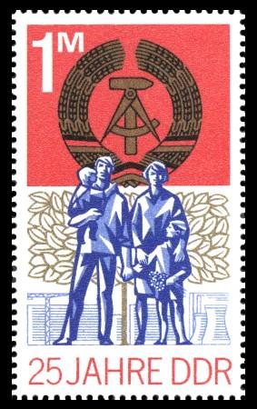 1 M Briefmarke: 25 Jahre DDR
