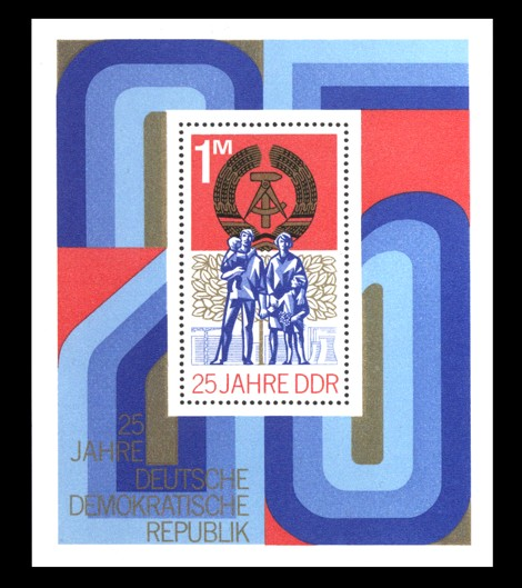 Briefmarke: Block - 25 Jahre DDR