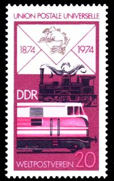 20 Pf Briefmarke: 100 Jahre Weltpostverein