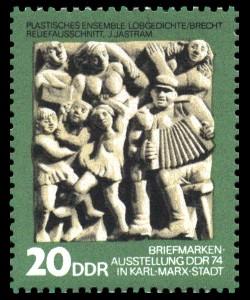 20 Pf Briefmarke: Tag der Philatelisten / Briefmarkenausstellung