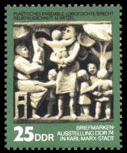 25 Pf Briefmarke: Tag der Philatelisten / Briefmarkenausstellung