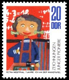 20 Pf Briefmarke: Zeichnungen Junger Pioniere
