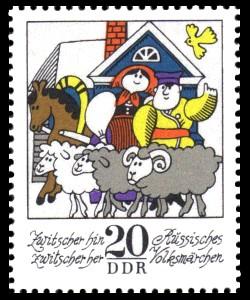 20 Pf Briefmarke: Wintermärchen - Zwitscher hin zwitscher her