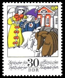 30 Pf Briefmarke: Wintermärchen - Zwitscher hin zwitscher her