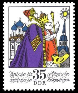 35 Pf Briefmarke: Wintermärchen - Zwitscher hin zwitscher her