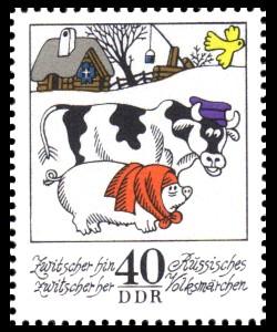 40 Pf Briefmarke: Wintermärchen - Zwitscher hin zwitscher her