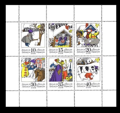Briefmarke: Kleinbogen - Wintermärchen: Zwitscher hin zwitscher her