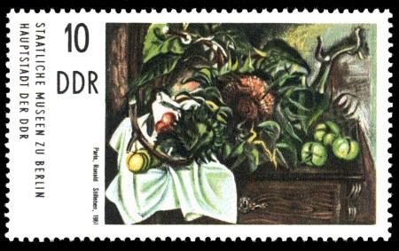 10 Pf Briefmarke: Gemälde aus Berliner Museen, Stilleben (Ronald Paris)