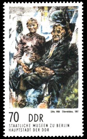 70 Pf Briefmarke: Gemälde aus Berliner Museen, Elternbildnis