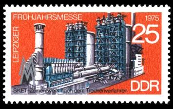 25 Pf Briefmarke: Leipziger Frühjahrsmesse 1975, Sket-Zementwerk
