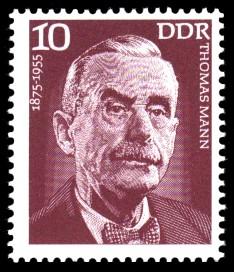 10 Pf Briefmarke: Bedeutende Persönlichkeiten, Thomas Mann