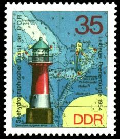 35 Pf Briefmarke: Leuchttürme der DDR, Leitfeuer Peenemünde