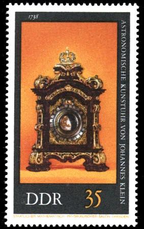 35 Pf Briefmarke: Alte Uhren, Astronomische Kunstuhr