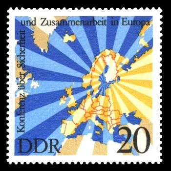 20 Pf Briefmarke: Konferenz über Sicherheit und Zusammenarbeit in Europa