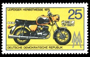 25 Pf Briefmarke: Leipziger Herbstmesse, Motorrad