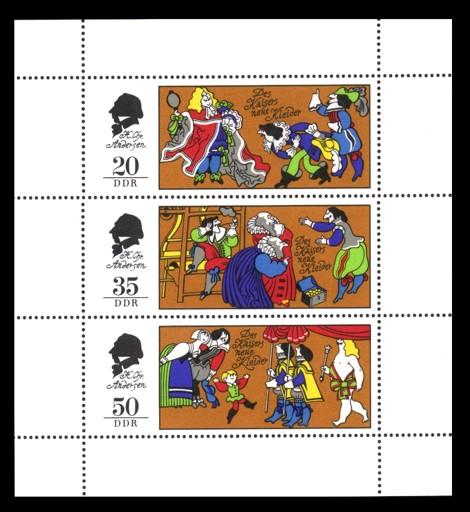 Briefmarke: Kleinbogen - Märchen - Des Kaisers neue Kleider