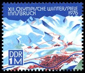 1 M Briefmarke: XII. Olympische Winterspiele Innsbruck