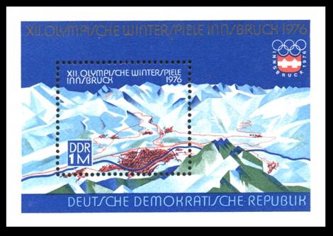 Briefmarke: Block - XII. Olympische Winterspiele Innsbruck