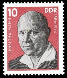 10 Pf Briefmarke: Verdienstvolle Persönlichkeiten der Arbeiterbewegung, Ernst Thälmann