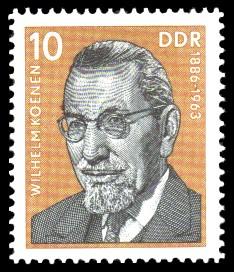 10 Pf Briefmarke: Verdienstvolle Persönlichkeiten der Arbeiterbewegung, Wilhelm Koenen