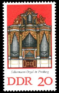 20 Pf Briefmarke: Silbermann-Orgeln (Freiberg)