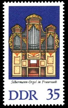 35 Pf Briefmarke: Silbermann-Orgeln (Fraureuth)