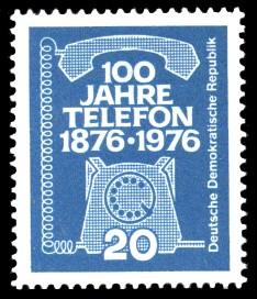 20 Pf Briefmarke: 100 Jahre Telefon