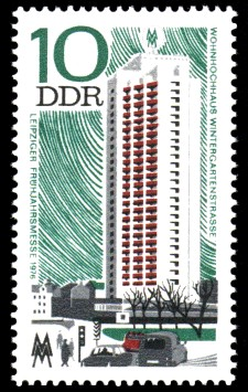 10 Pf Briefmarke: Leipziger Frühjahrsmesse 1976