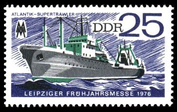 25 Pf Briefmarke: Leipziger Frühjahrsmesse 1976