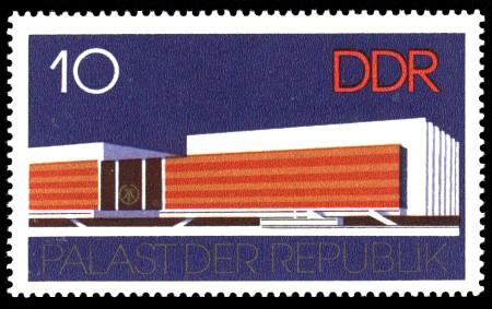 10 Pf Briefmarke: Palast der Republik