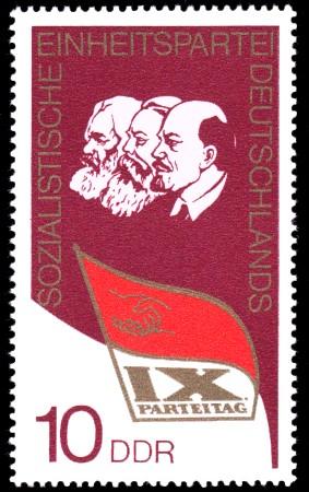 10 Pf Briefmarke: IX. Parteitag der SED