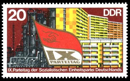 20 Pf Briefmarke: IX. Parteitag der SED