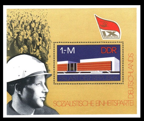 Briefmarke: Block - IX. Parteitag der SED