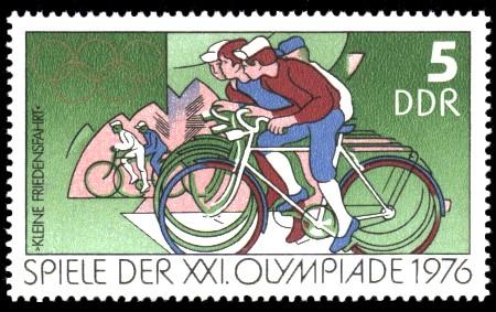 5 Pf Briefmarke: Spiele der XXI.Olympiade 1976, Kleine Friedensfahrt