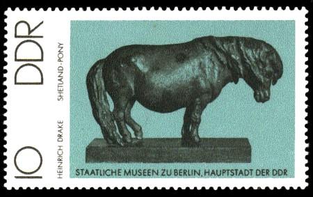 10 Pf Briefmarke: Staatliche Museen zu Berlin, Shetland-Pony