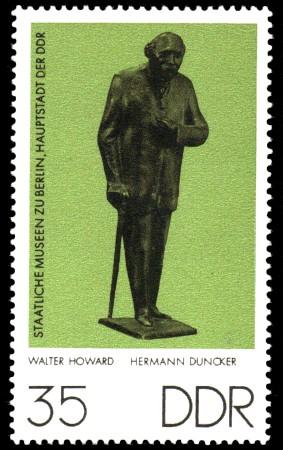 35 Pf Briefmarke: Staatliche Museen zu Berlin, Hermann Duncker