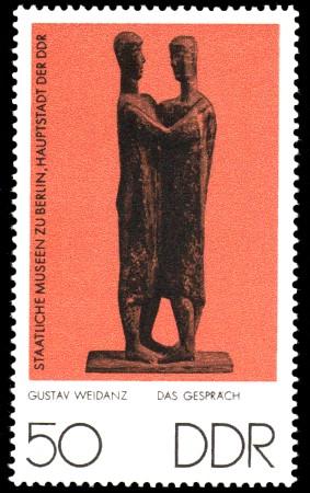 50 Pf Briefmarke: Staatliche Museen zu Berlin, Das Gespräch