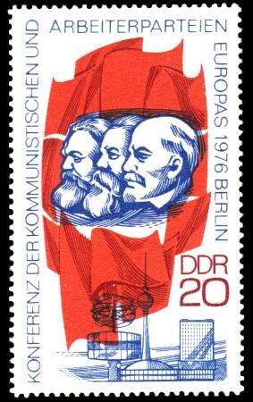 20 Pf Briefmarke: Konferenz der kommunistischen und Arbeiterparteien Europas