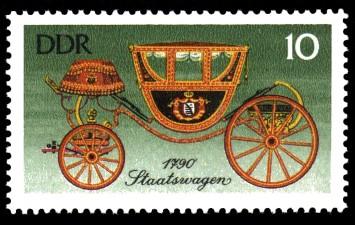 10 Pf Briefmarke: Historische Kutschen, Staatswagen