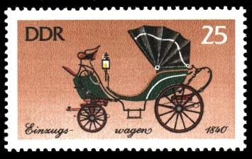 25 Pf Briefmarke: Historische Kutschen, Einzugswagen