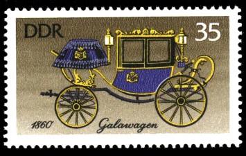 35 Pf Briefmarke: Historische Kutschen, Galawagen
